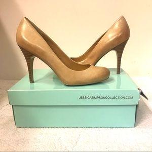 Jessica Simpson tan/taupe heels
